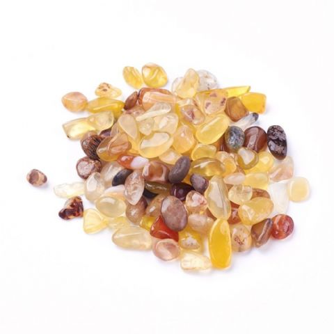 Chips - Natural Yellow Agate 7~13mm - 50g
